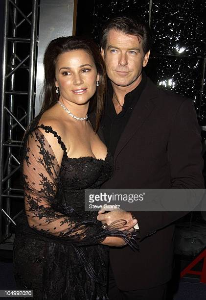Pierce Brosnan wife Keely Shaye Smith during Die Another Day Los Angeles Premiere at Shrine Auditorium in Los Angeles California United States