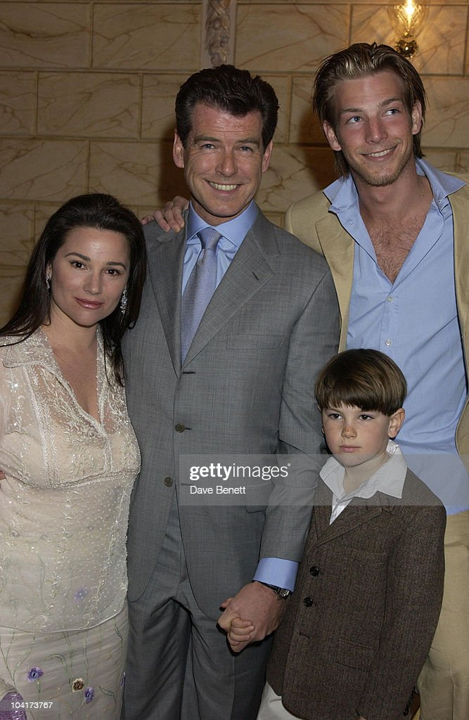 Pierce Brosnan, Wife Keely Shaye Smith & Sons Sean (back) & Dylan (front), 'Chitty Chitty Bang Bang' Opening Night At The London Palladium Theatre.