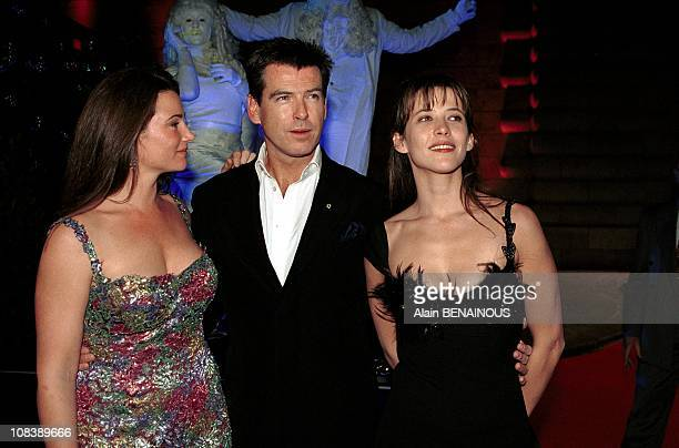 Pierce Brosnan wife Sophie Marceau in Paris France on November 25 1999
