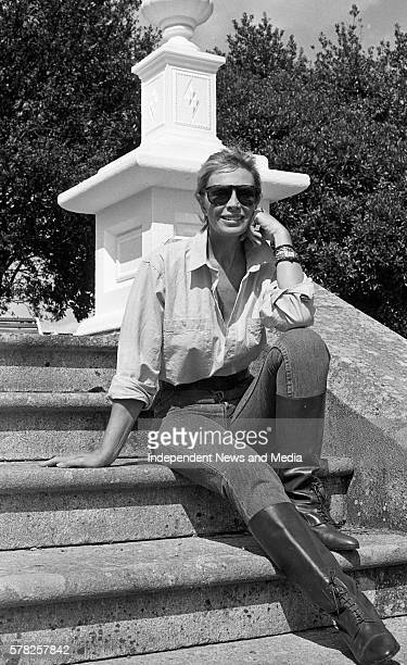 Pierce Brosnan's former wife and actress Cassandra Harris at tinakilly House Rathnew County Wicklow