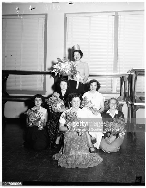 Pierce College Homecoming Week April 25 1951 Sally Ames Sally Rosales Carol Bloom Kay Henderson Jeanne Schneider More descriptive information with...