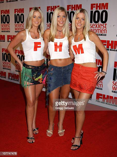 Pierce Triplets during FHM Magazine Hosts The '100 Sexiest Women in the World' Party at Raleigh Studios in Hollywood California United States