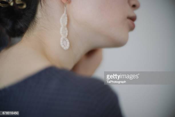 pierced ears - minimalist living in japan ストックフォトと画像