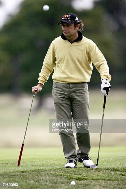 Piereluigi Martini waits for his shot on the 7th hole at Whittlebury Park Golf and Country Club prior to testing for the GP Masters of Great Britain...
