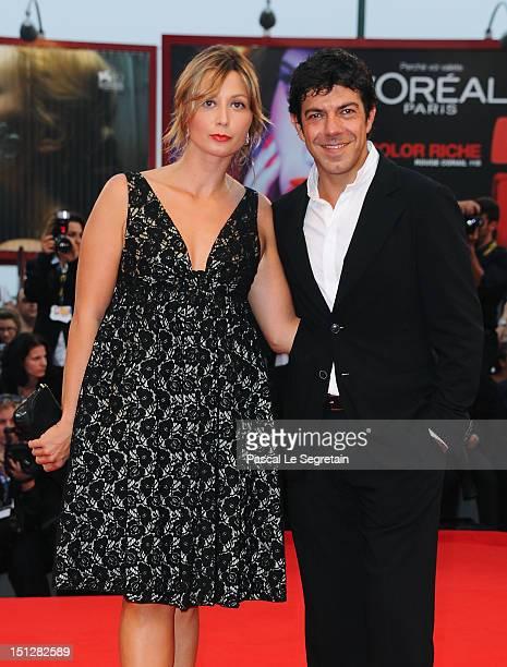 Pierfrancesco Favino and Anna Ferzetti attend the Bella Addormentata Premiere during The 69th Venice Film Festival at the Palazzo del Cinema on...