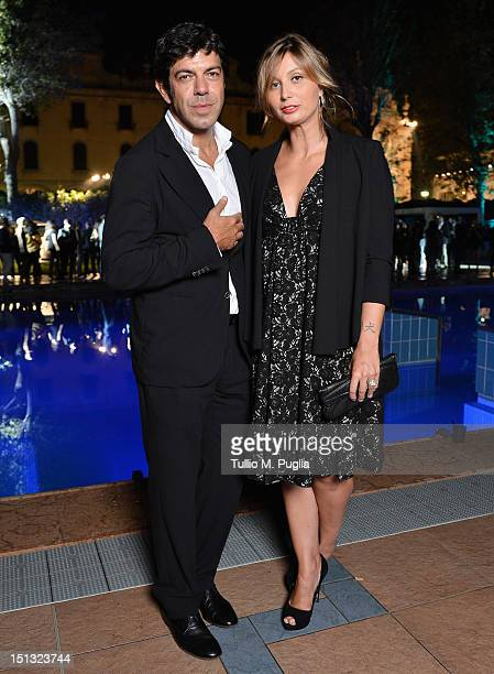 Pierfrancesco Favino and Anna Ferzetti attend the Ciakmagazine party at Lancia Cafe during the 69th Venice Film Festival on September 5 2012 in...