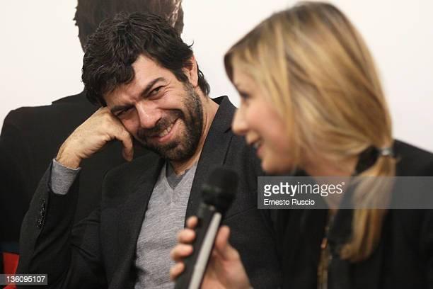 Pierfrancesco Favino and Anna Ferzetti attend the Il Gusto Del Cinema Book Launch at Fandango Incontro on December 19 2011 in Rome Italy