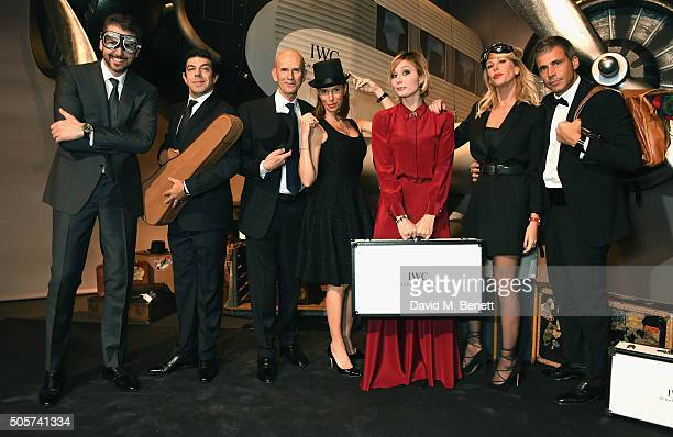 Pierfrancesco Favino Anna Ferzetti Alessia Marcuzzi and guests attend the IWC 'Come Fly with us' Gala Dinner during the launch of the Pilot's Watches...