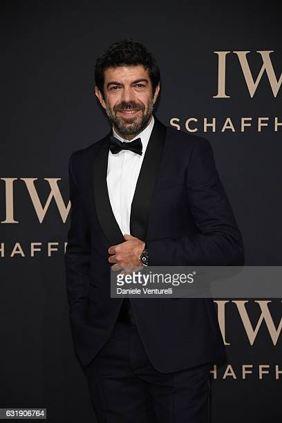 Pierfrancesco Favino arrives at IWC Schaffhausen at SIHH 2017 'Decoding the Beauty of Time' Gala Dinner on January 17 2017 in Geneva Switzerland