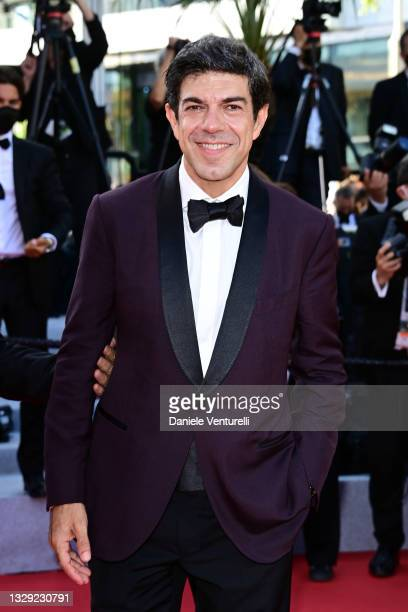 """Pierfrancesco Favino attends the final screening of """"OSS 117: From Africa With Love"""" and closing ceremony during the 74th annual Cannes Film Festival..."""