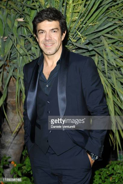 Pierfrancesco Favino attends the Nastri D'Argento cocktail party in Taormina on June 29 2019 in Taormina Italy