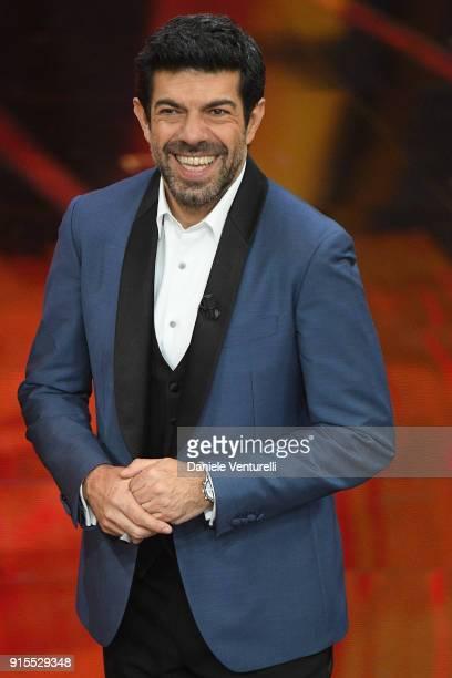 Pierfrancesco Favino attends the second night of the 68 Sanremo Music Festival on February 7 2018 in Sanremo Italy