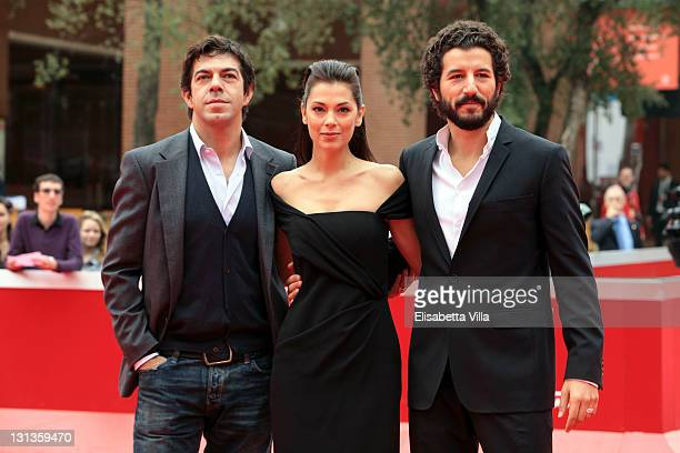 Pierfrancesco Favino Giorgia Surina and Francesco Scianna attends the Collateral Awards Red Carpet during 6th International Rome Film Festival on...