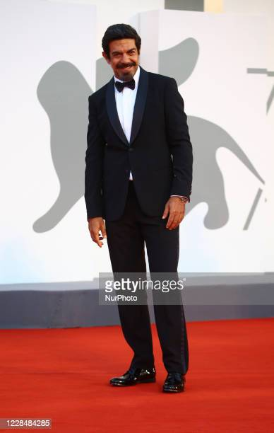 Pierfrancesco Favino walks the red carpet ahead of closing ceremony at the 77th Venice Film Festival on September 12, 2020 in Venice, Italy.