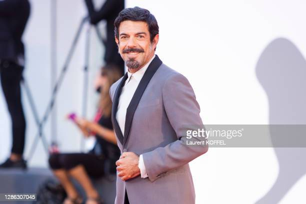 """Pierfrancesco Favino walks the red carpet ahead of the movie """"Padrenostro"""" at the 77th Venice Film Festival at on September 04, 2020 in Venice, Italy."""