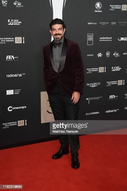 Pierfrancesco Favino wearing Brunello Cucinelli attends the 32nd European Film Awards at Haus Der Berliner Festspiele on December 07 2019 in Berlin...