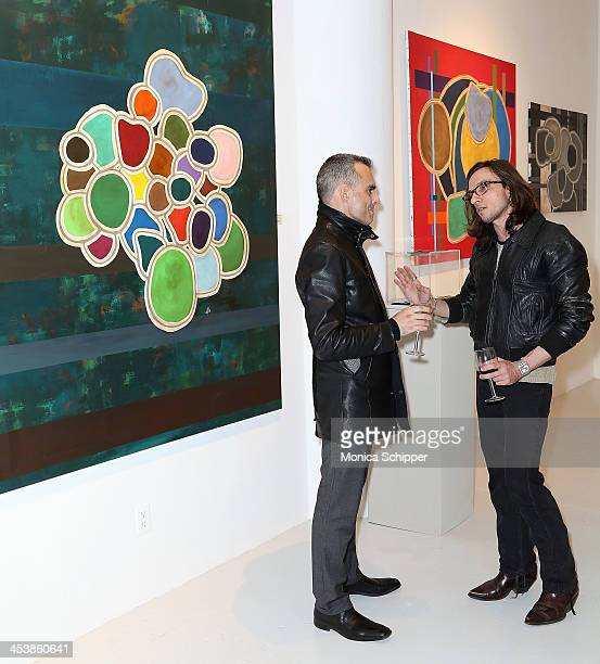 Pierfrancesco Savona and Sam Carro attend 'love art give a smile' Art Fashion And Design Benefit at Clen Gallery on December 5 2013 in New York City