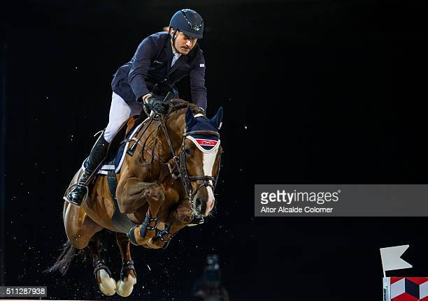 Piergiorgio Bucci of Italy rides Casallo Z during The Hong Kong Jockey Club Trophy as part of the 2016 Longines Masters of Hong Kong on February 19...