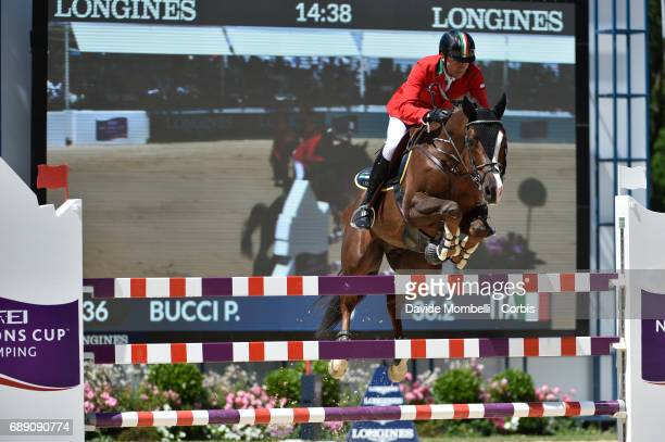 Piergiorgio Bucci of Italy riding Casallo Z during the FEI Nations Cup Piazza di Siena on May 26 2017 in Villa Borghese Rome Italy
