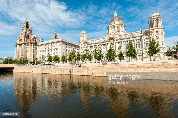 pierhead, liverpool, england - merseyside stock pictures, royalty-free photos & images
