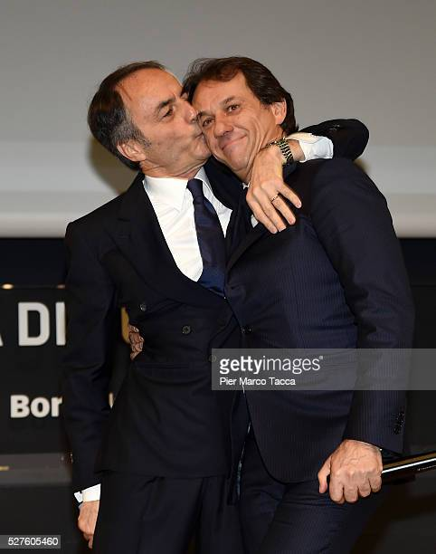 Pierluigi Alessandri and Nerio Alessandri attend the Technogym Listing Ceremony at Palazzo Mezzanotte on May 3 2016 in Milan Italy Technogym is the...