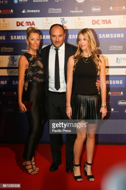 Pierluigi Casiraghi ex player of Juventus Lazio and Chelsea and of the Italian national team here on Red Carpet in the company of his wife and...