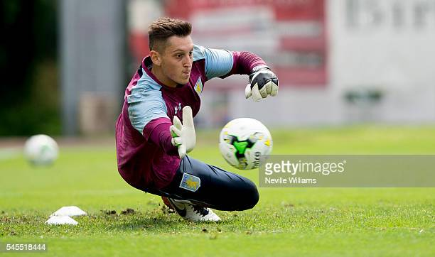 Pierluigi Gollini of Aston Villa in action during a Aston Villa training session at the club's training camp at Leibnitz on July 08 2016 in Leibnitz...