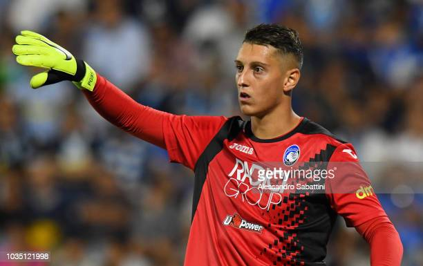 Pierluigi Gollini of Atalanta BC gestures during the serie A match between SPAL and Atalanta BC at Stadio Paolo Mazza on September 17 2018 in Ferrara...