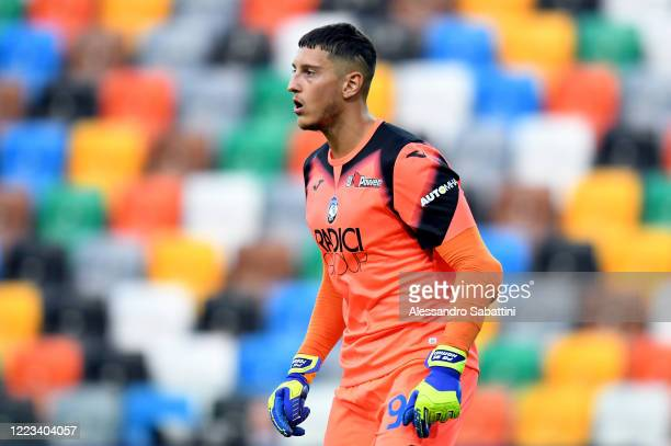 Pierluigi Gollini of Atalanta BC looks on during the Serie A match between Udinese Calcio and Atalanta BC at Stadio Friuli on June 28 2020 in Udine...