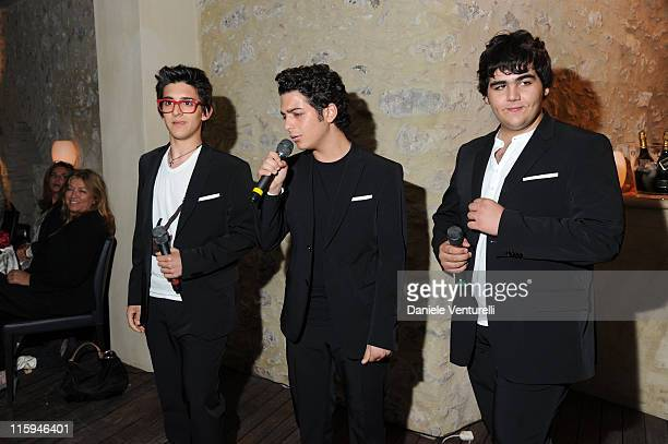 Piero Barone Gianluca Ginoble and Ignazio Boschetto attend the 'Oliver Stone Honored With Taormina Arte Award' Dinner during the 57th Taormina Film...
