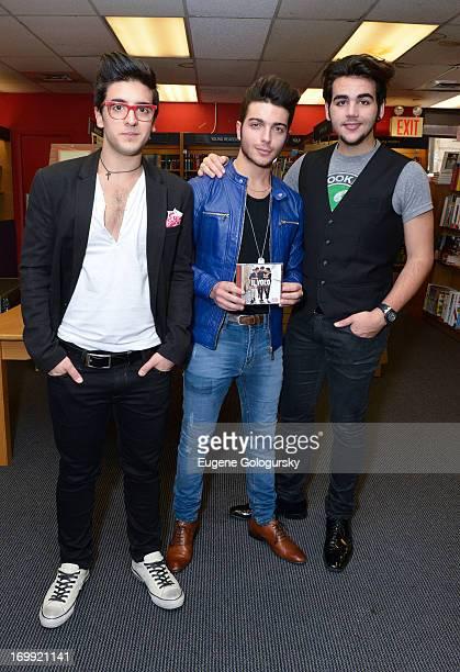 Piero Barone Gianluca Ginoble and Ignazio Boschetto of Il Volo promote We Are Love on June 4 2013 in New York City