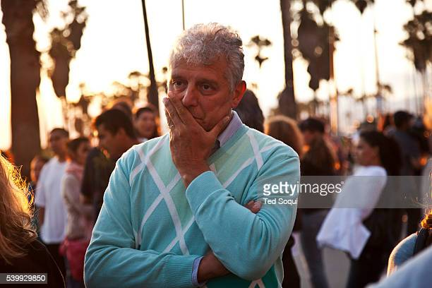 Piero Casadei step father of Alice Gruppiono and Katia Gruppioni Aunt of Alice at the crash site in Venice Beach A memorial was held for Alice...