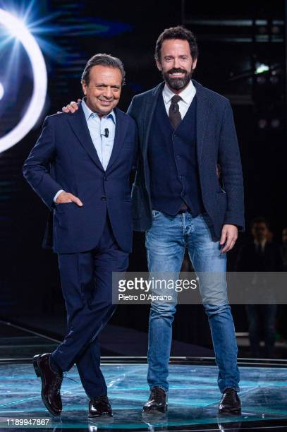Piero Chiambretti and Sebastiano Lombardi at the Cr4 La Repubblica Delle Donne TV Show at Mediaset Studios on November 25 2019 in Milan Italy
