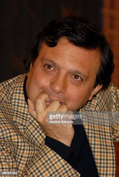Piero Chiambretti attends a photo session for the launch of Markette Italian tv show on September 04 2006 in Milan Italy