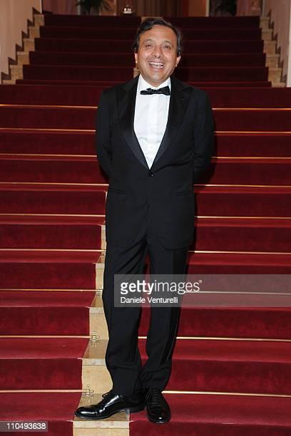 Piero Chiambretti attends a photocall for 'Premio TV 2011' at Hotel Londra on March 20 2011 in San Remo Italy