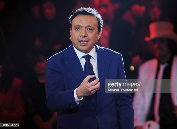 Piero Chiambretti attends 'Chiambretti Night' Italian TV Show on February 11 2012 in Milan Italy