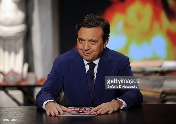 Piero Chiambretti attends 'Chiambretti Night' Italian TV Show on February 11 2012 in Milan Italy