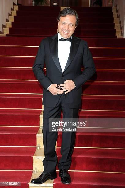 Piero Chiambretti attends 'Premio TV 2011' Photocall held at Hotel Londra on March 20 2011 in San Remo Italy