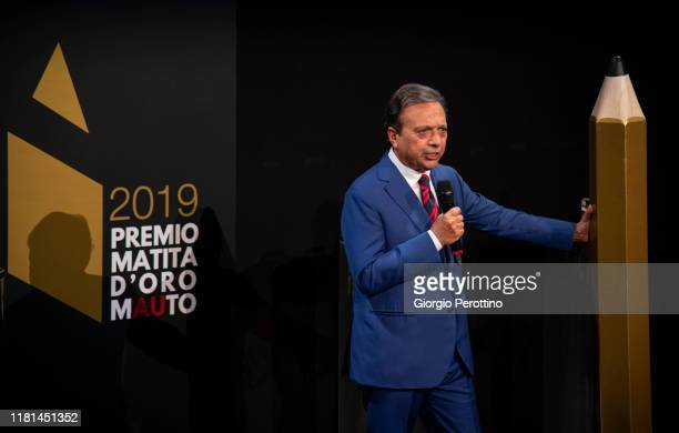Piero Chiambretti attends the Matita d'Oro award ceremony at Museo Nazionale dell'Automobile on October 15 2019 in Turin Italy