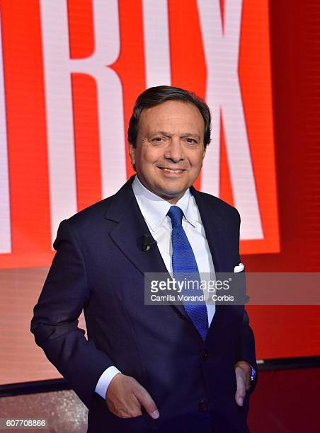 Piero Chiambretti attends the presentation of 'Matrix' on September 19 2016 in Rome Italy