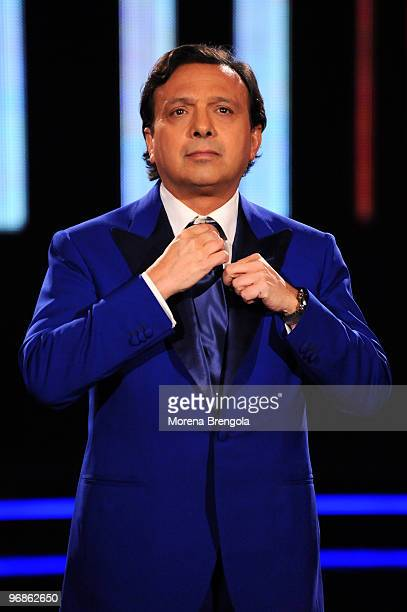 Piero Chiambretti during the Italian tv show Chiambretti night on February 24 2009 in Milan Italy
