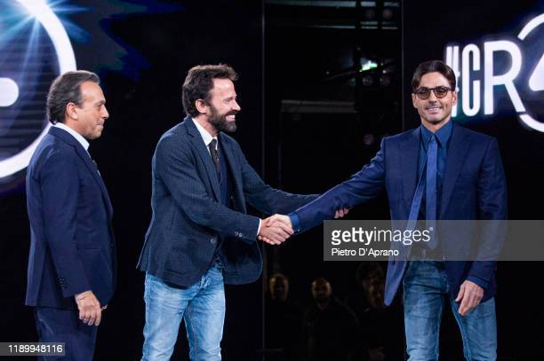 Piero Chiambretti Sebastiano Lombardi and Piersilvio Berlusconi at the Cr4 La Repubblica Delle Donne TV Show at Mediaset Studios on November 25 2019...