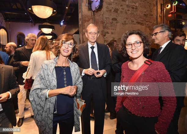 Piero Fassino and his wife togheter Francesca Leon during the OGR concert on September 30 2017 in Turin Italy