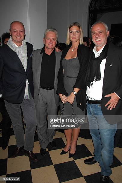 Piero Lissoni Michael Douglas Marjorie Fritz and Dr Cem Kinay attend Dellis Cay NY launch party at Neue Gallerie NYC on January 23 2007