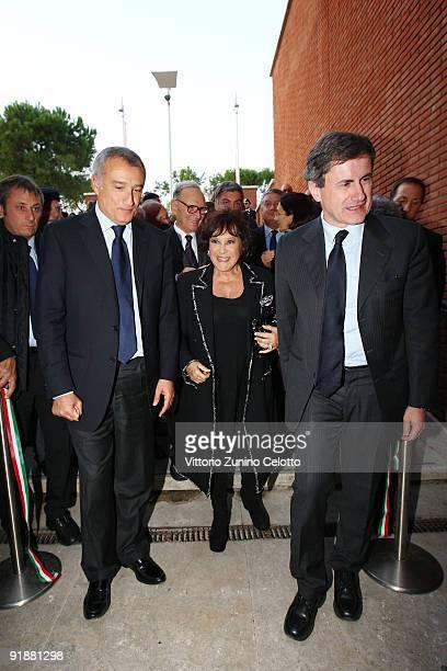 Piero Marrazzo Carla Leone and Gianni Alemanno attend 'Sergio Leone Uno Sguardo Inedito' opening exhibition at the Auditorium Parco Della Musica on...
