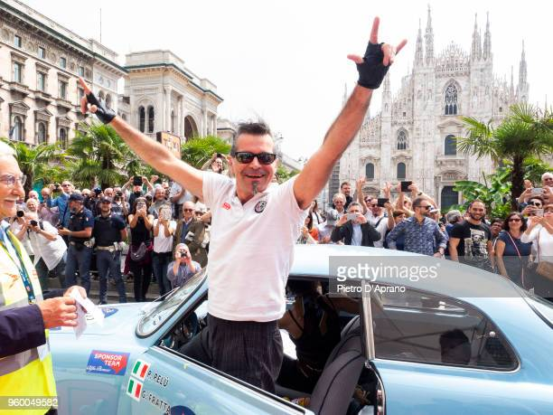 Piero Pelu attends 1000 Miles Historic Road Race on May 19 2018 in Milan Italy
