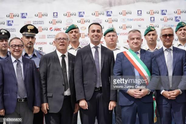 Piero Rinaldi Claudio Gubitosi Luigi Di Maio Antonio Giuliano attend Giffoni Film Festival 2019 on July 23 2019 in Giffoni Valle Piana Italy
