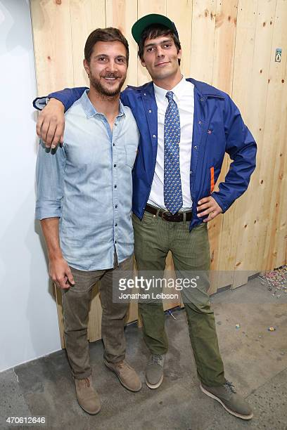 Pierpaolo Barzan and Grear Patterson attend the Depart Foundation In Collaboration With American Academy In Rome Presents Grear Patterson Seek And...