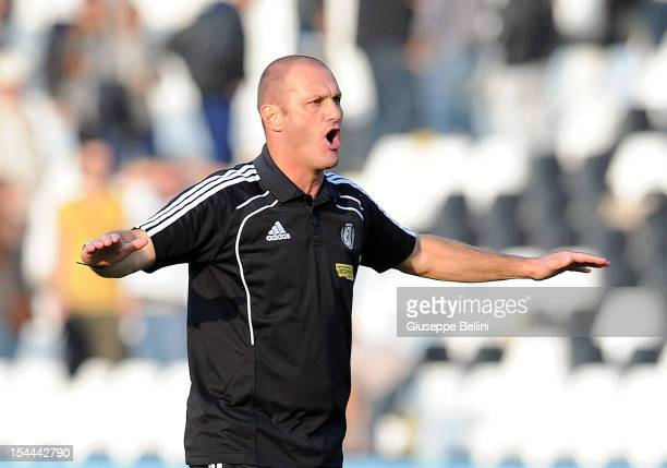 Pierpaolo Bisoli head coach of Cesena after the Serie B match between AC Cesena and Reggina Calcio at Dino Manuzzi Stadium on October 20 2012 in...