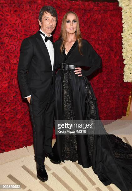 Pierpaolo Piccioli and Allegra Versace attend the Heavenly Bodies Fashion The Catholic Imagination Costume Institute Gala at The Metropolitan Museum...